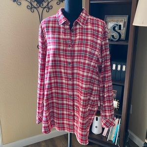 Roots flannel long sleeved shirt